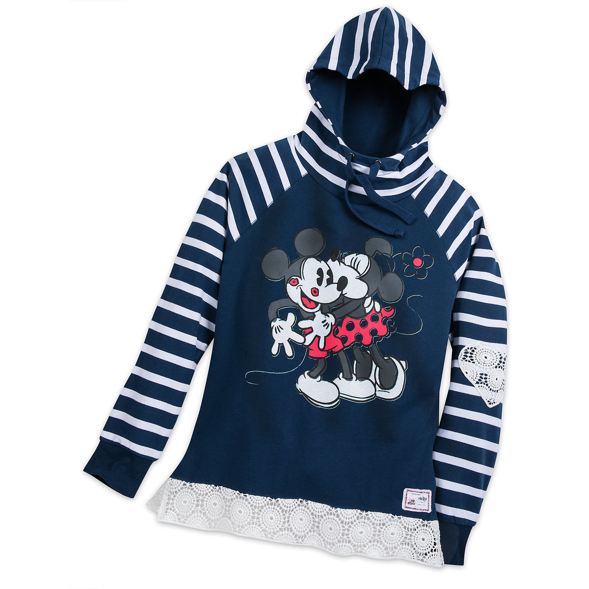 27bc511576 Disney Women's Hoodie - Mickey Minnie Smooches