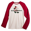 Disney Adult Shirt - Santa Mickey Mouse Happy Holidays Baseball Tee