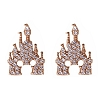 Disney Rebecca Hook Earrings - Mickey Castle - Rose Gold