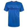 Disney ADULT Shirt - Disney World State T-Shirt - Blue