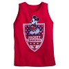 Disney ADULT Tank Top - Americana Mickey Mouse - Red