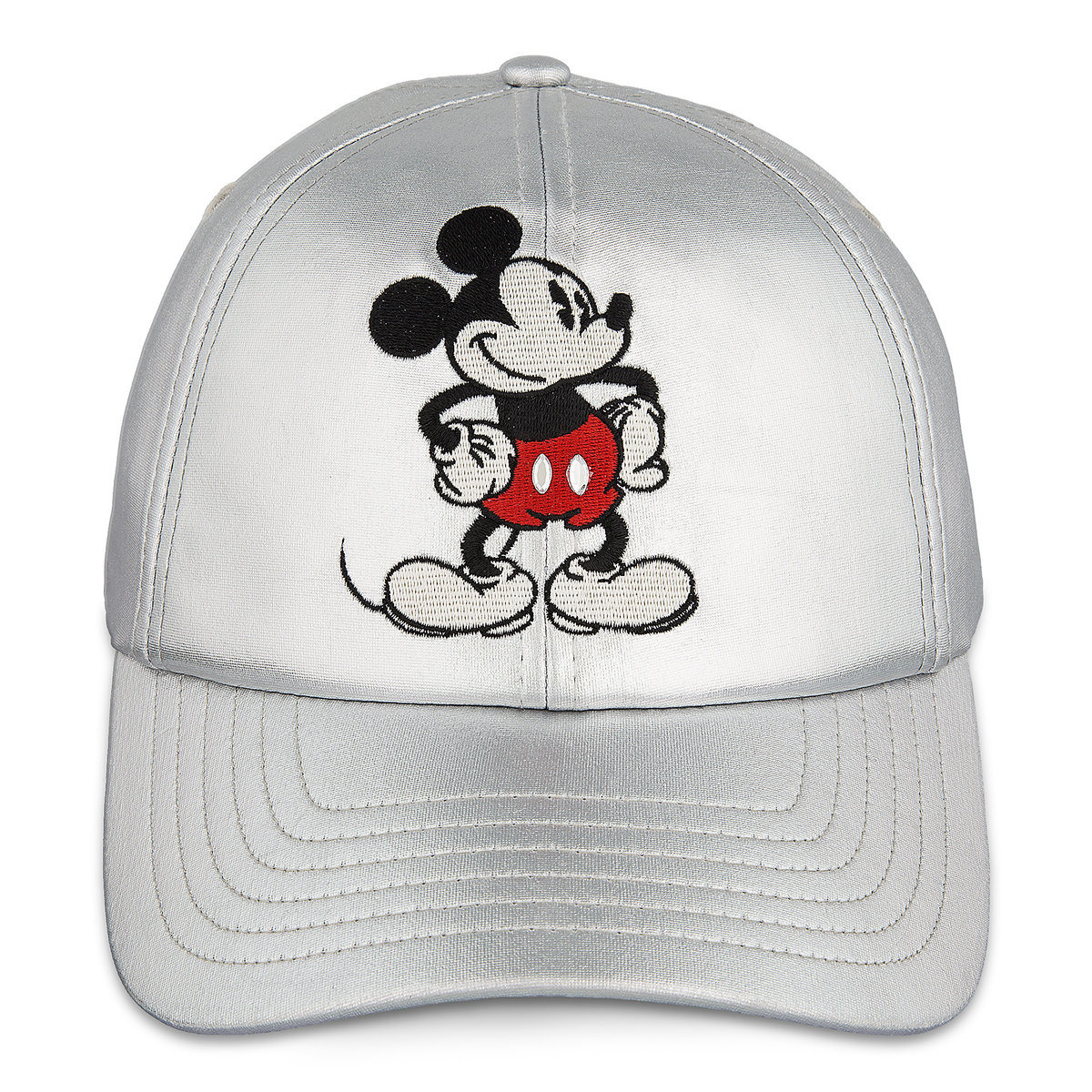 16999cbe105f0 Disney Baseball Cap - Mickey Mouse Timeless Silver Hat for Women