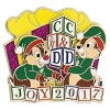 Disney Holiday Pin - 2017 Chip & Dale - Joy 2017