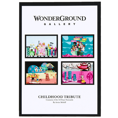 NEW Disney Parks WonderGround Gallery Childhood Tribute Print by Mcbiff