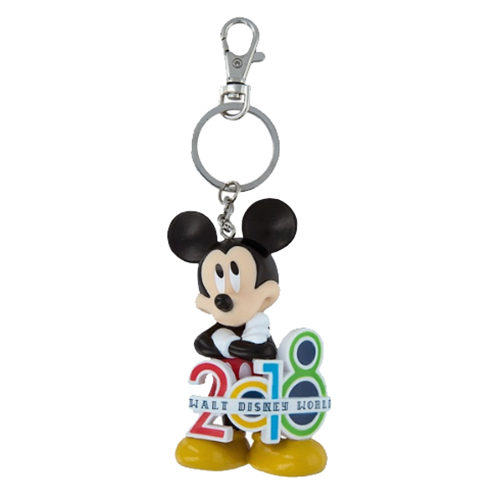Disney Keychain Keyring - 2018 Walt Disney World Mickey Mouse Keychain