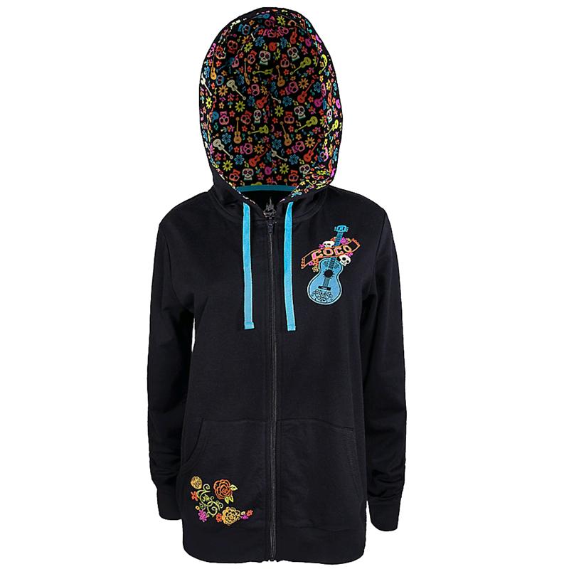 08604a99f71 Disney Women s Hoodie - Coco Zip Up Hoodie