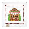 Disney Glass Plate - 2017 Boardwalk Resort Gingerbread Scene