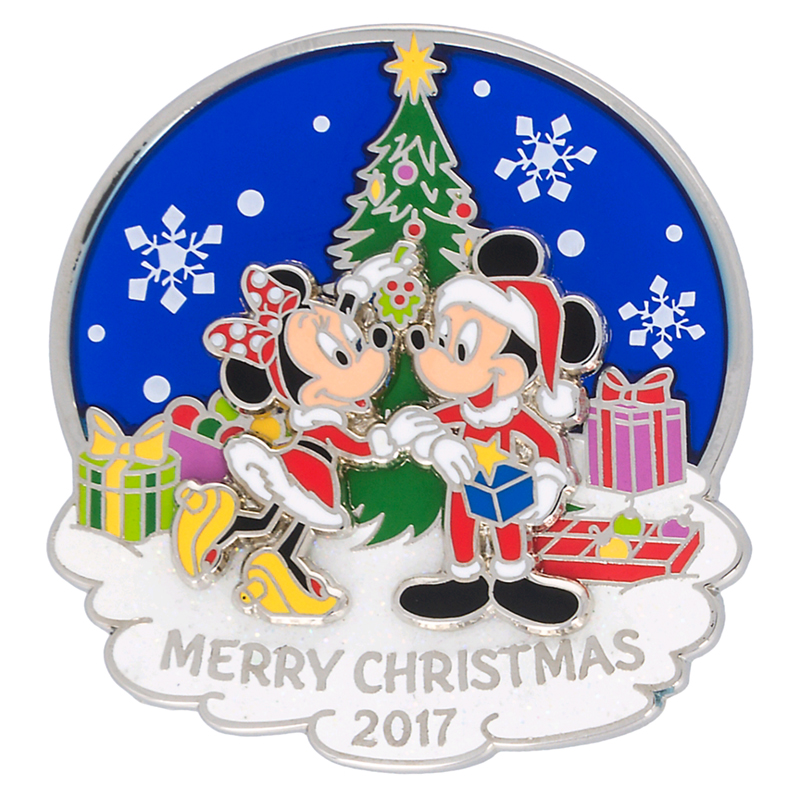 disney christmas day pin 2017 merry christmas mickey and minnie
