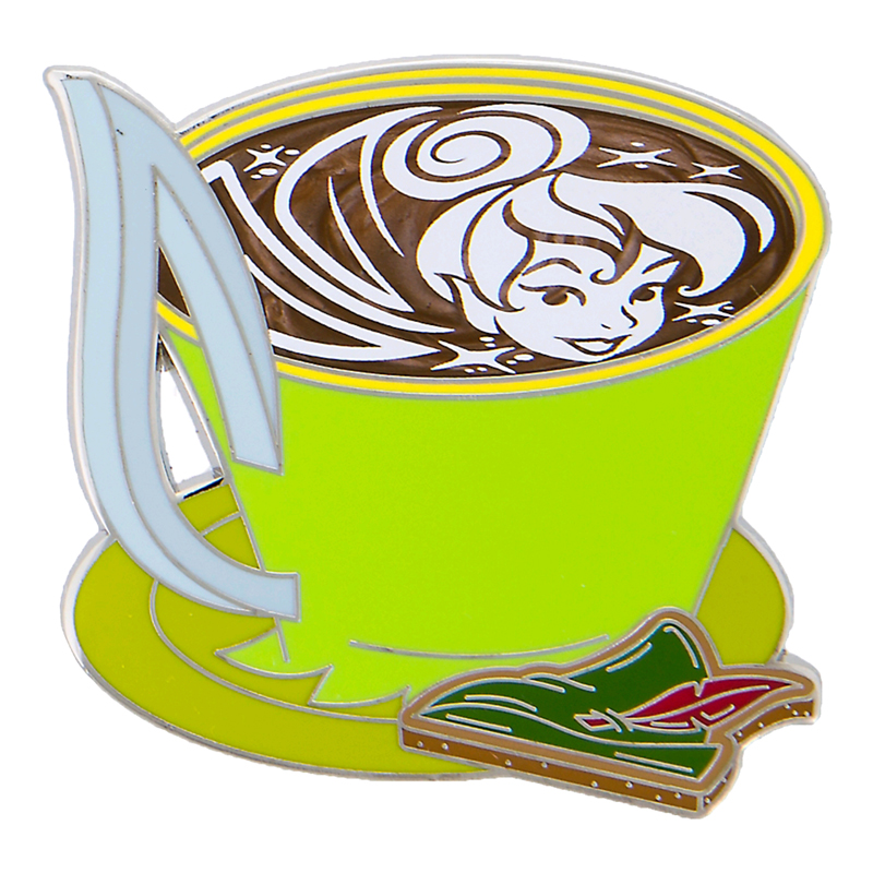 Disney Latte with Character Pin - #05 Tinker Bell