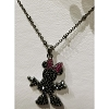 Disney Rebecca Hook Necklace - Minnie Silhouette - Black