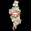 Disney Pirates Pin - A Pirate's Life For Me - Jeweled Skull