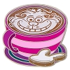 Disney Latte with Character Pin - #01 Cheshire Cat