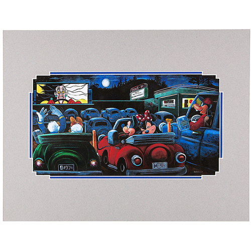 Disney Deluxe Artist Print - Drive-In by Brian Blackmore