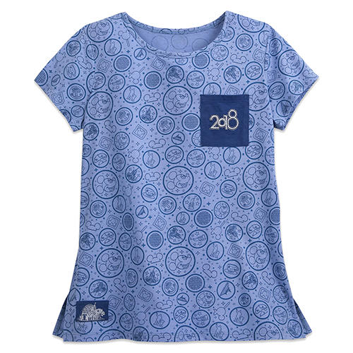Disney LADIES Shirt - 2018 Walt Disney World Logo Pocket Tee