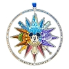 Disney Spinner Disc Ornament - Four Parks Compass