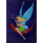 Disney Postcard - Tinker Bell Whispers by Martin Hsu