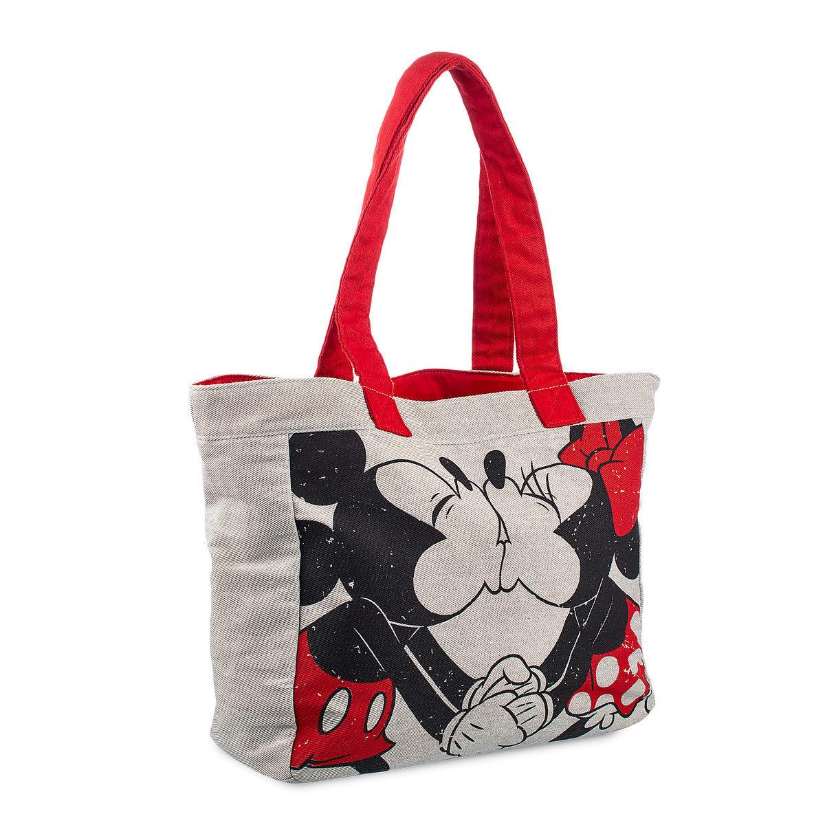 disney canvas tote bag valentine s day sweethearts mickey minnie