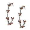 Disney Rebecca Hook Earrings - Mickey Icon Hoops - Rose Gold