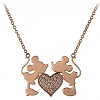 Disney Rebecca Hook Necklace - Mickey and Minnie Kiss - Rose Gold