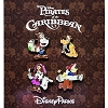 Disney 4 Pin Booster Set - Pirates of the Caribbean - Mickey and Pals