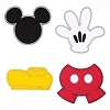 Disney Iron On Patch Set - Best of Mickey Mouse