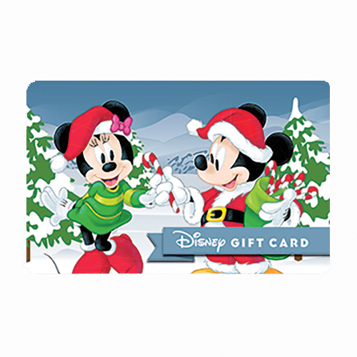 Disney Collectible Gift Card - Candy Canes - Mickey and Minnie