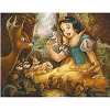 Disney Deluxe Artist Print - Snow White Forest Friends - Darren Wilson