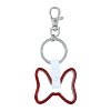 Disney Keychain - Red Metal Minnie Bow Outline