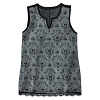 Disney Women's Shirt - Haunted Mansion Wallpaper Fashion Tank