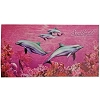 SeaWorld Beach Towel - Dolphins on Pink and Red Reef