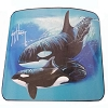 SeaWorld Fleece Throw - Guy Harvey Two Orca Whales