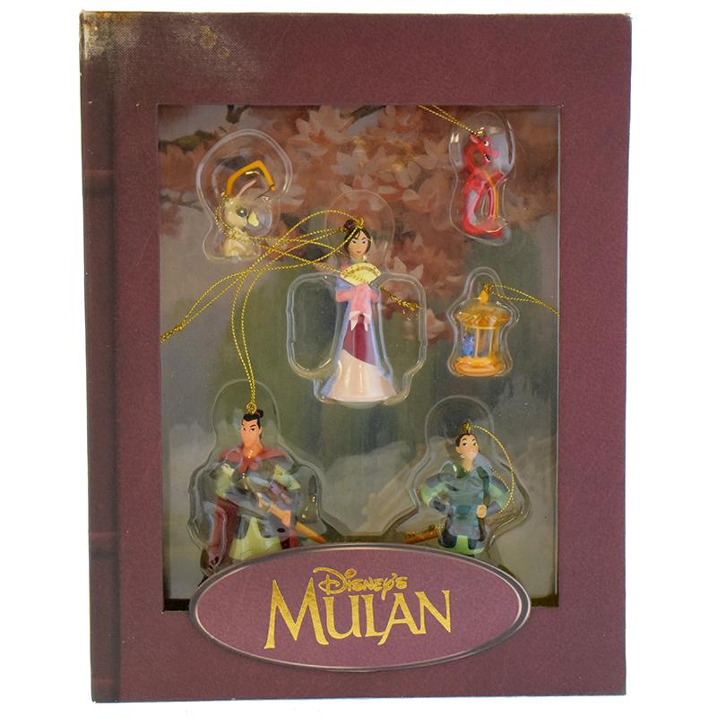 Christmas Ornament Set.Disney Christmas Ornament Set Storybook Set Mulan