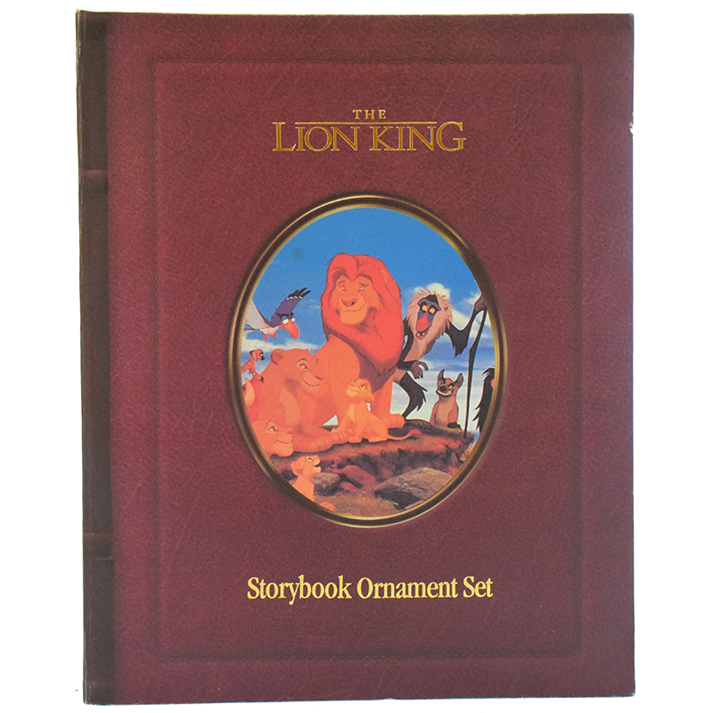 Disney Christmas Ornament Set - Storybook Set - Lion King