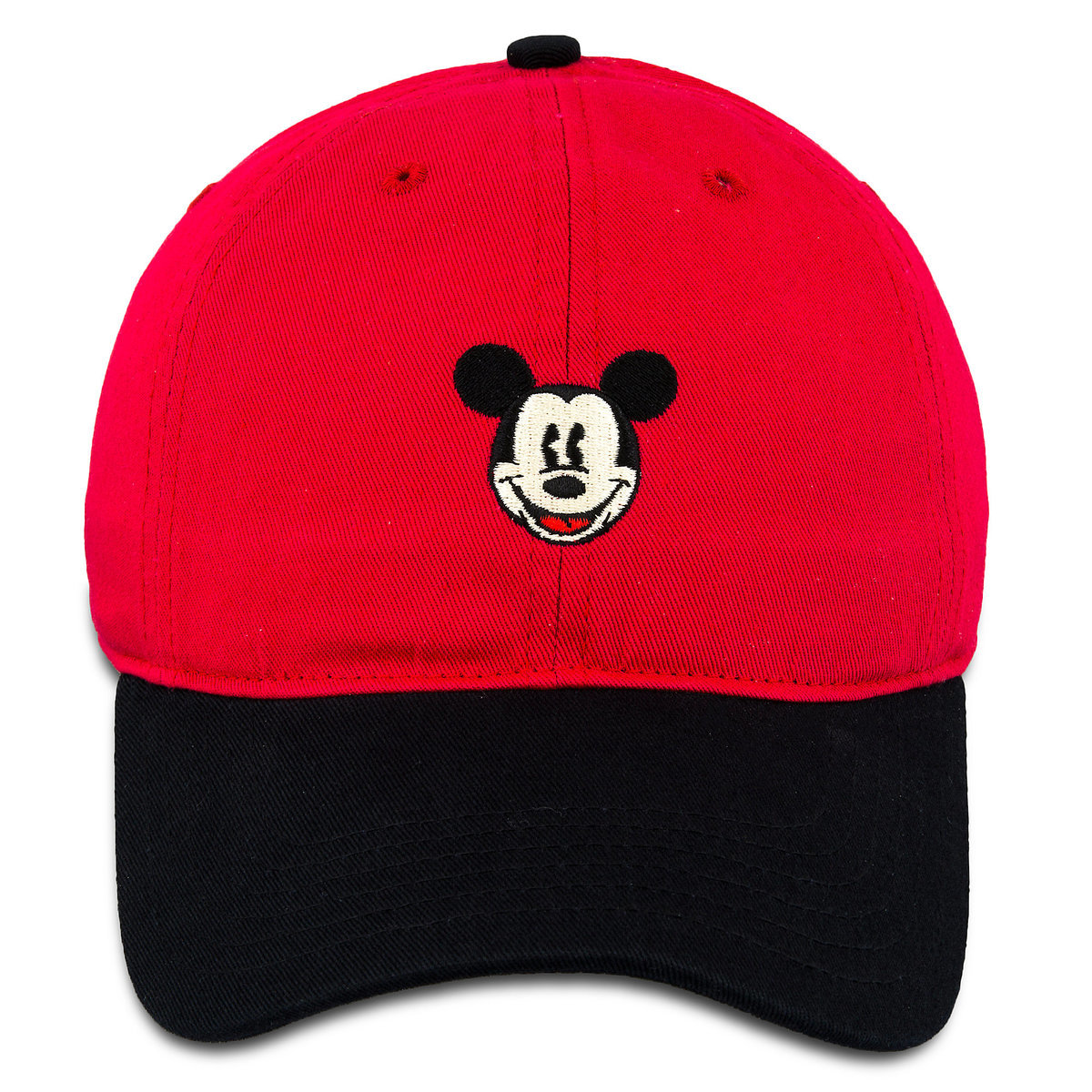 Disney Baseball Cap - Mickey Mouse Two-Tone - Red Black 70fa1b552ce