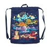 Disney Cinch Backpack - Passport Collection - Park Icons