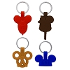 Disney Keychain Set - Park Icons - Balloon Ice Cream Pretzel Hat