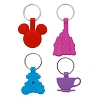 Disney Keychain Set - Park Icons - Icon Castle Carriage Tea Cup