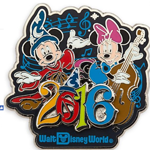 Disney Annual Pin - 2016 Sorcerer Mickey and Minnie Musical