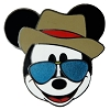Disney Mickey Pin - Mickey in Fedora and Sunglasses