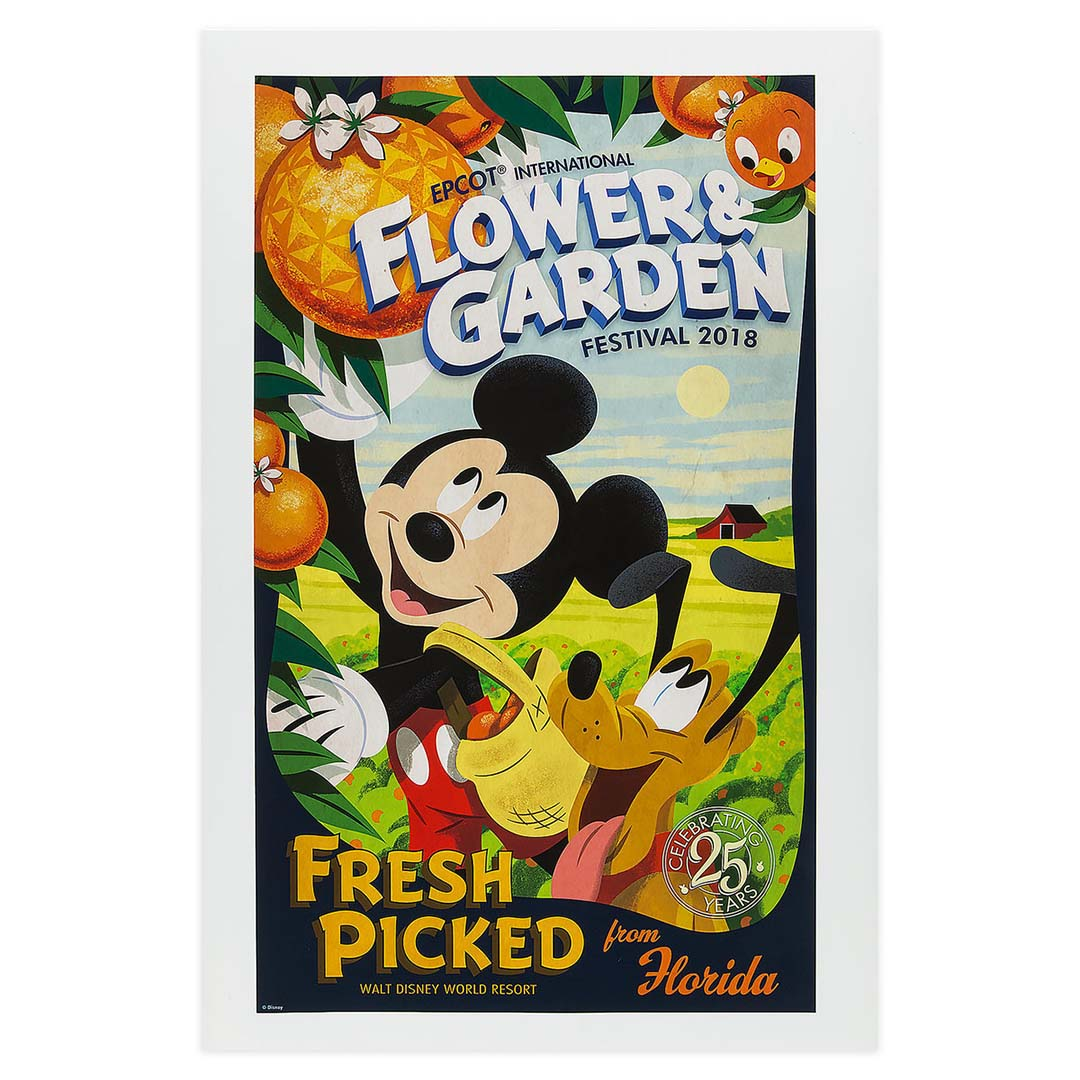 disney poster - 2018 epcot flower and garden festival