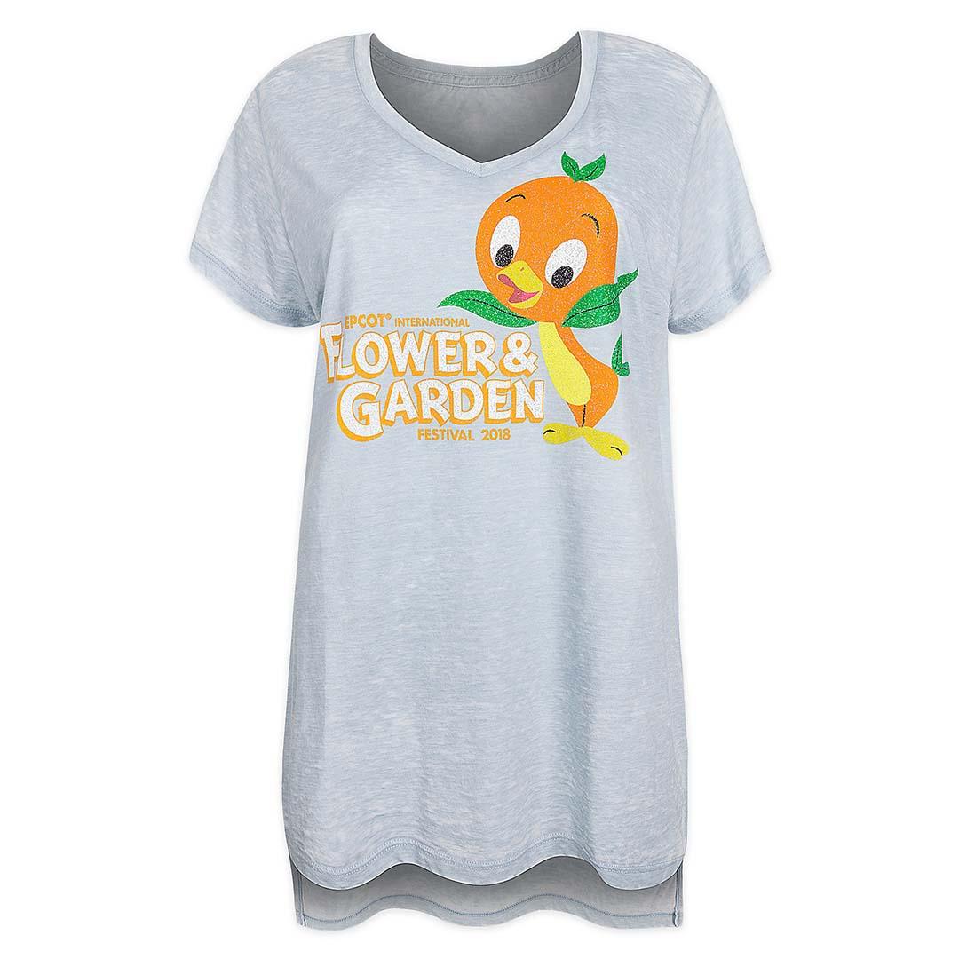 disney ladies shirt - 2018 epcot flower and garden orange bird