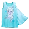 Disney Girls Shirt - Elsa Tank Top with Cape