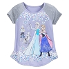 Disney Girls Shirt - Frozen Cast - Raglan - Purple