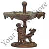 Disney Garden Statue - Mickey and Pluto Birdbath