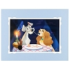 Disney Deluxe Print - Bella Notte Lady and the Tramp by Bill Robinson