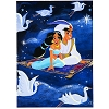 Disney Postcard - Aladdin To the Moon and Back by Gabby Zapata