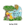Disney Spring Pin - 2018 First Day of Spring - Winnie the Pooh