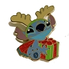 Disney Stitch Pin - Reindeer Stitch With Christmas Present