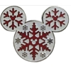Disney Mickey Icon Pin - Snowflakes