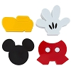Disney Magnet Set - Mickey Clip Magnets- Set of 4 - Body Parts